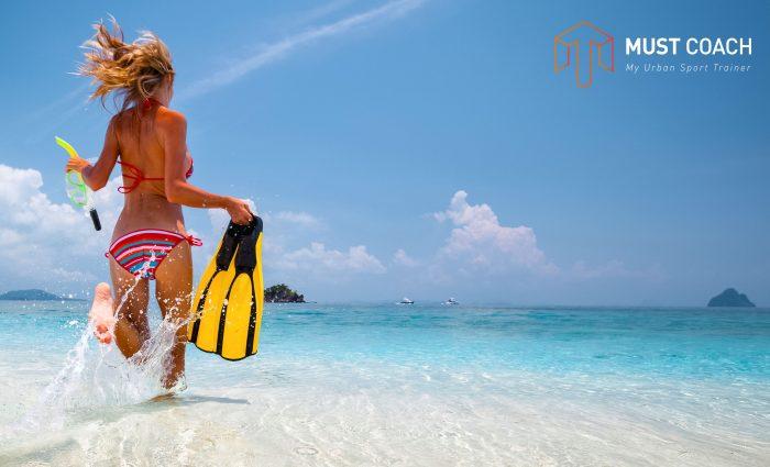 sport à la plage